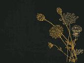 Grunge flowers design