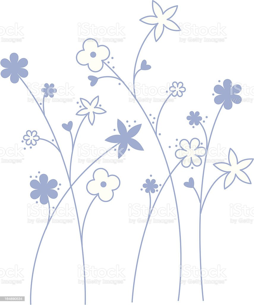 wild flowers royalty-free stock vector art