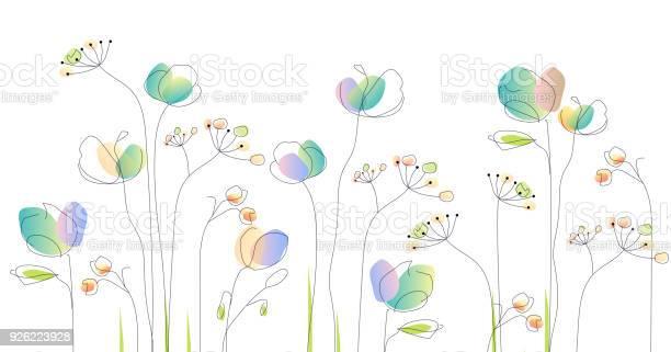 Wild flowers watercolor illustration vector id926223928?b=1&k=6&m=926223928&s=612x612&h=bvinvy9wj5mav806xmjvfxqvok5lbv4szl9otowlp3i=