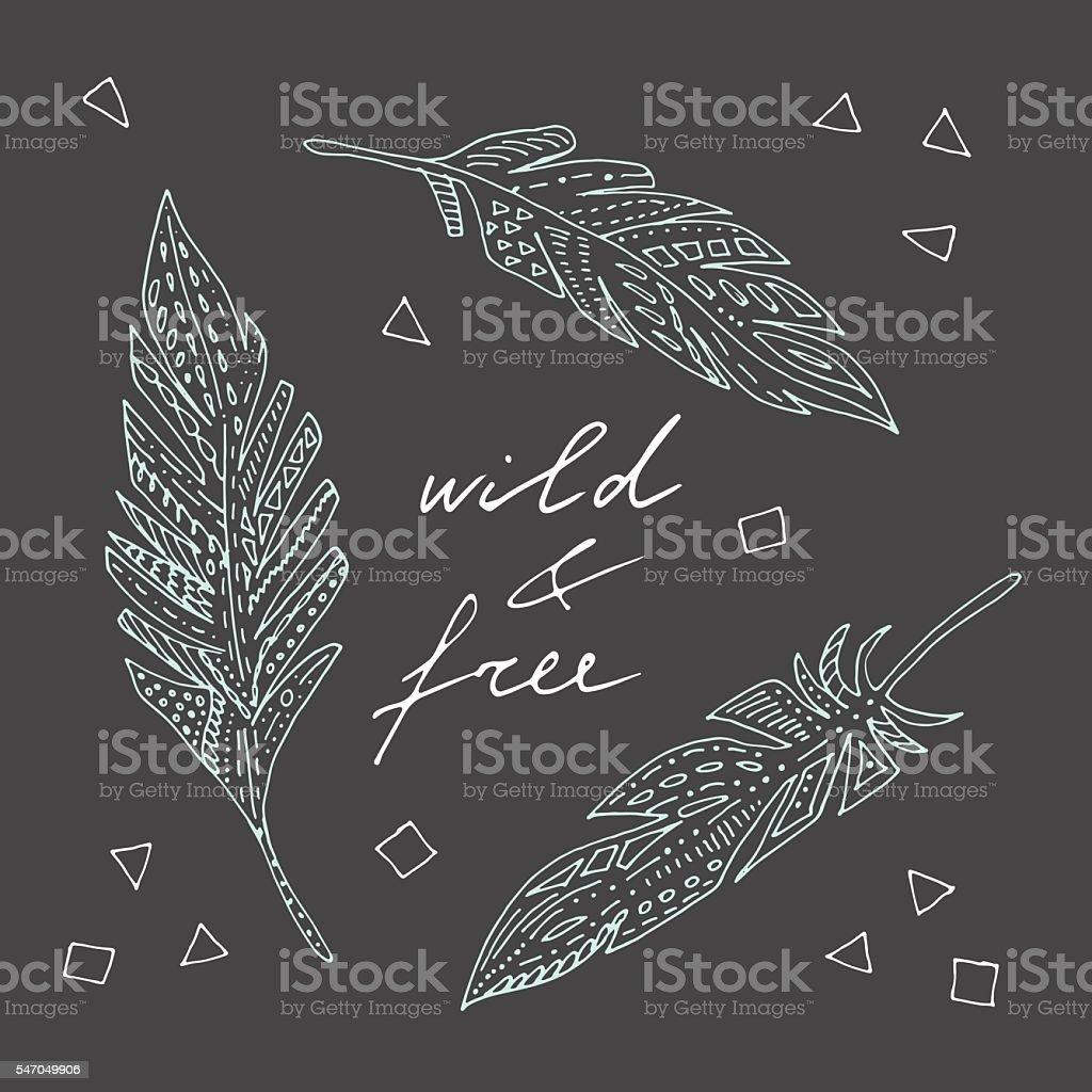 Wild, free. vector art illustration