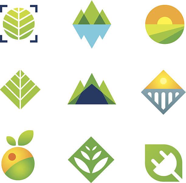 stockillustraties, clipart, cartoons en iconen met wild green nature captured energy for future generation logo icon - wildplassen