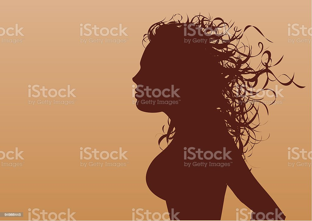 Wild hair royalty-free stock vector art