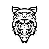 istock Wild hog head mascot 1199299806