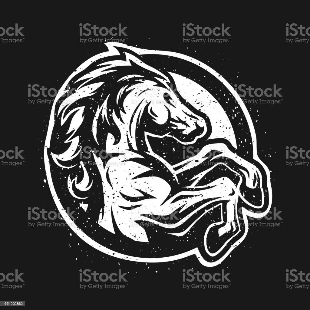 Wild horse, logo, symbol. vector art illustration