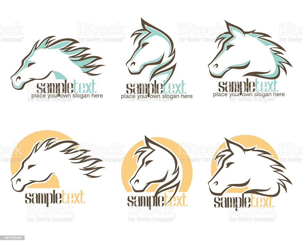 Wild Horse Logo Vector Symbols And Emblems Collection Stock Illustration Download Image Now Istock