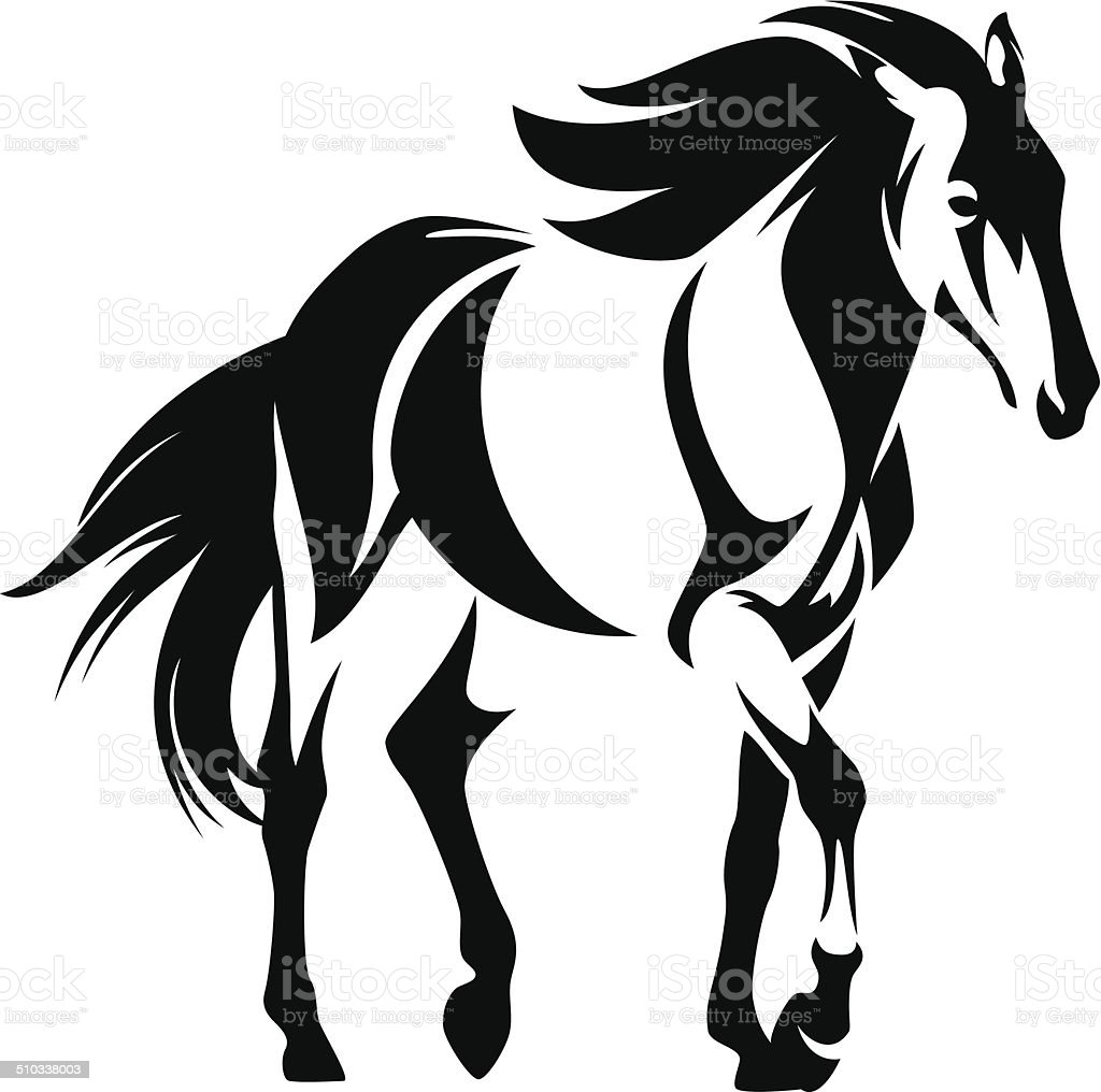 royalty free clip art of black and white mustang clip art vector rh istockphoto com horse vector art free download horse vector art free download