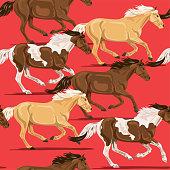 istock Wild Horses Seamless Pattern 1211025352