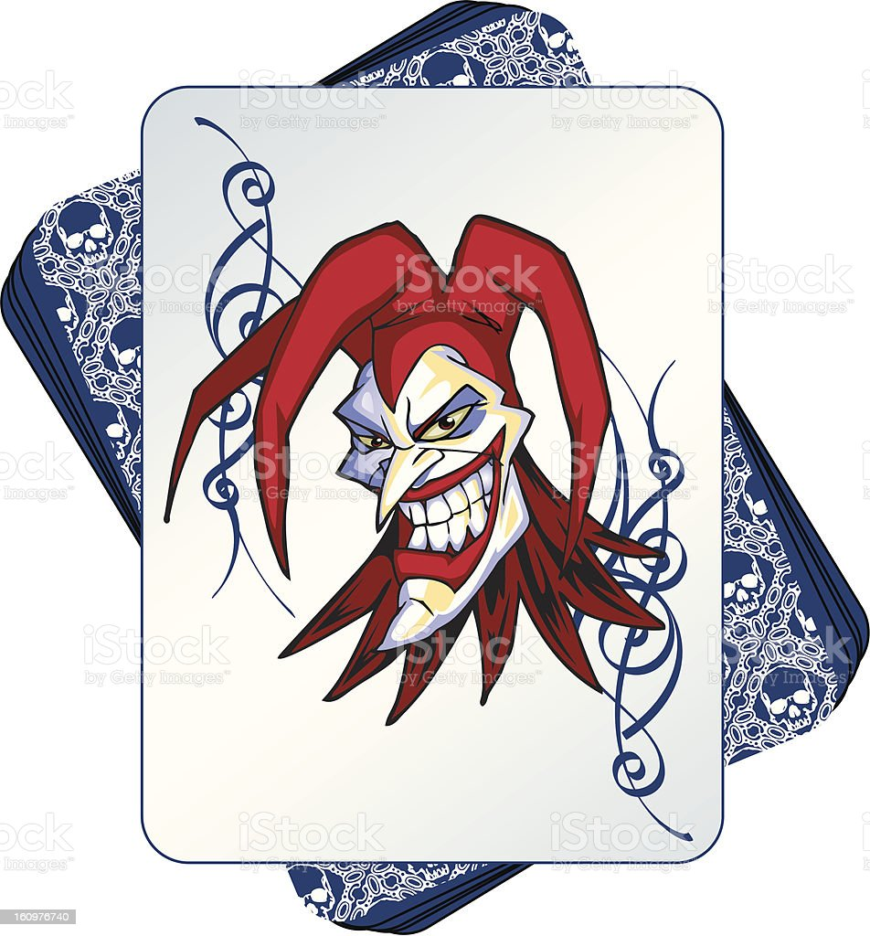 Wild Joker in a deck of cards royalty-free stock vector art