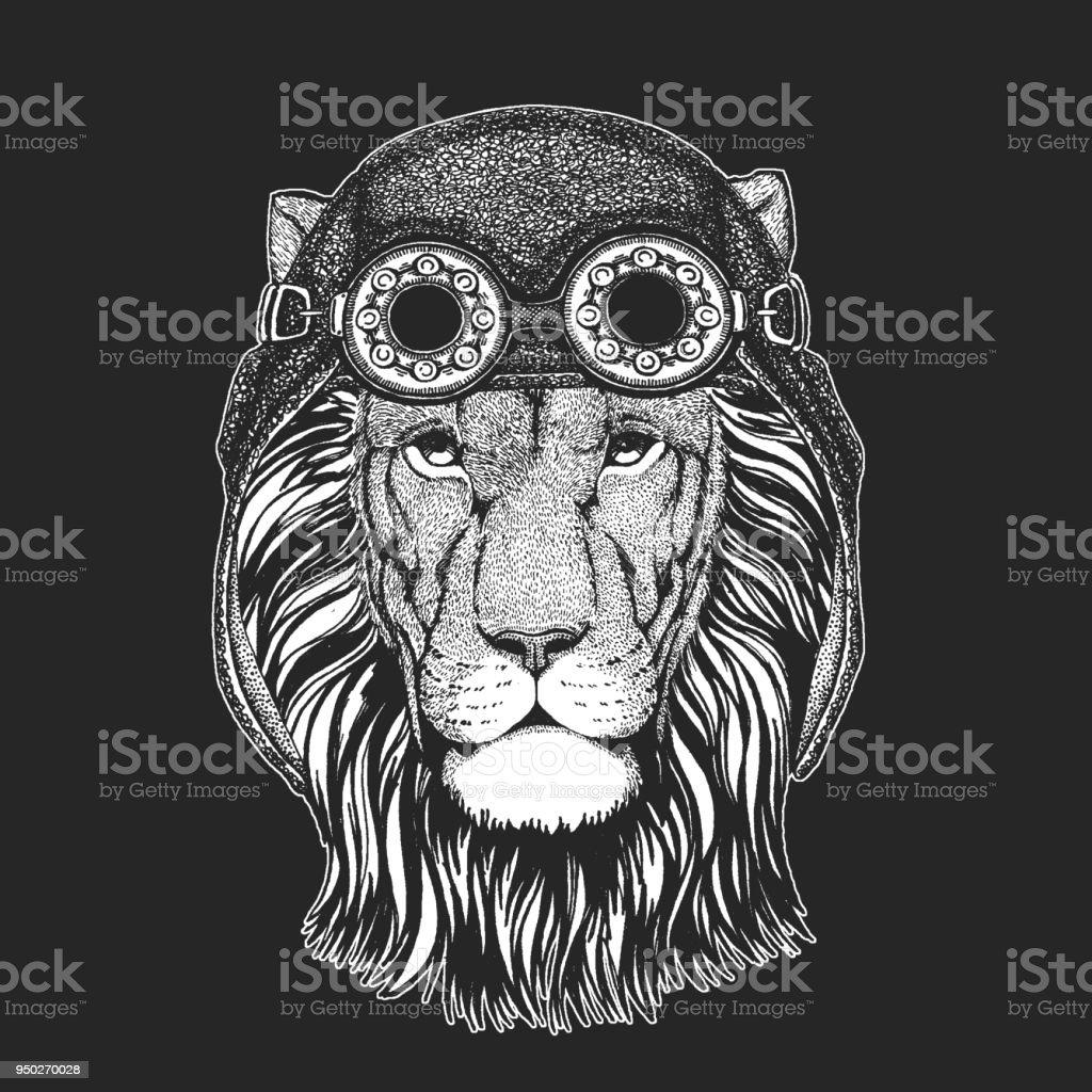 Lion Sauvage Main Dessinee Photo Pour Tatouage Embleme Insigne Logo