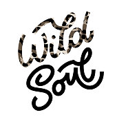 istock Wild Soul lettering in doodle style. 1279762805