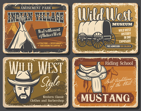 Wild West and Western retro posters