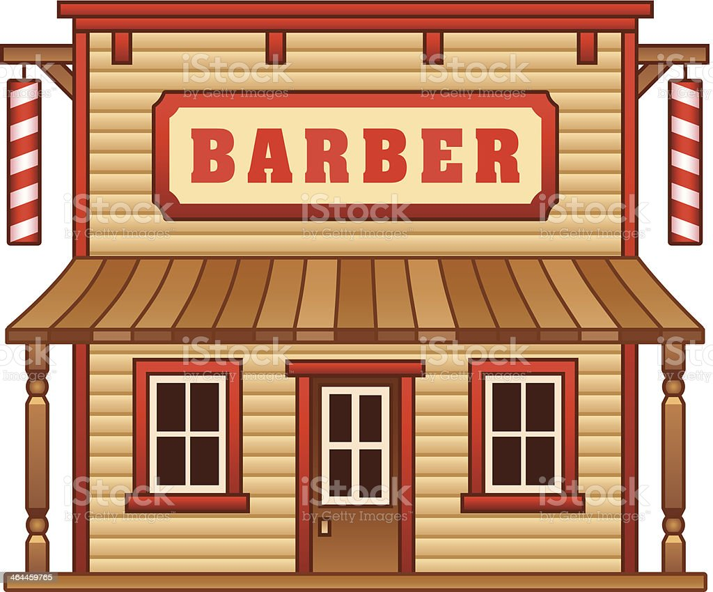 Wild West barber shop royalty-free stock vector art