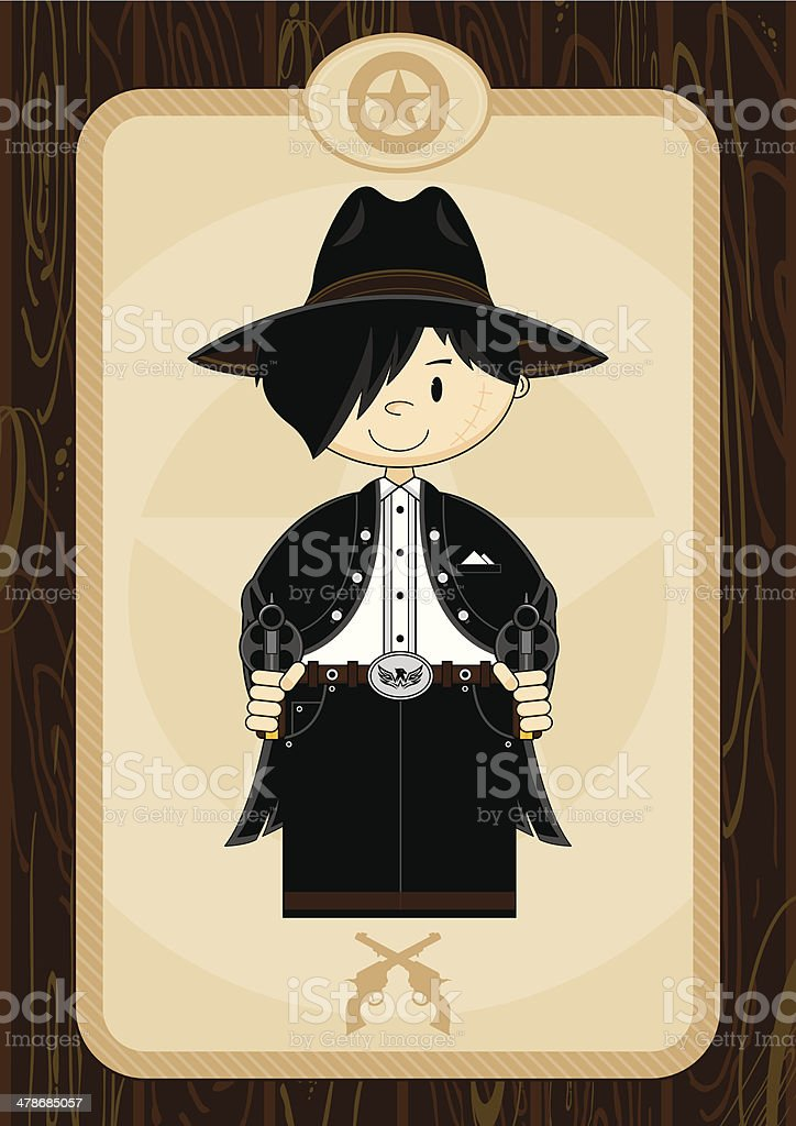 Wild West Cartoon Cowboy royalty-free stock vector art