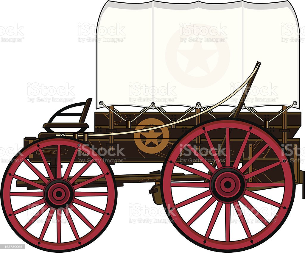 royalty free covered wagon clip art vector images illustrations rh istockphoto com covered wagon clipart images covered wagon clipart images