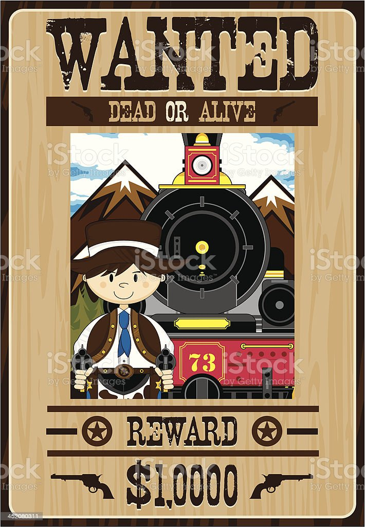 Wild West Cowboy Outlaw Poster royalty-free wild west cowboy outlaw poster stock vector art & more images of aiming
