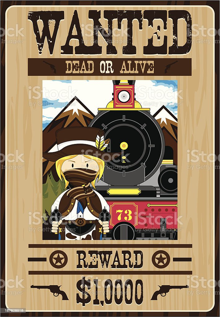Wild West Cowgirl Outlaw Poster royalty-free wild west cowgirl outlaw poster stock vector art & more images of adult