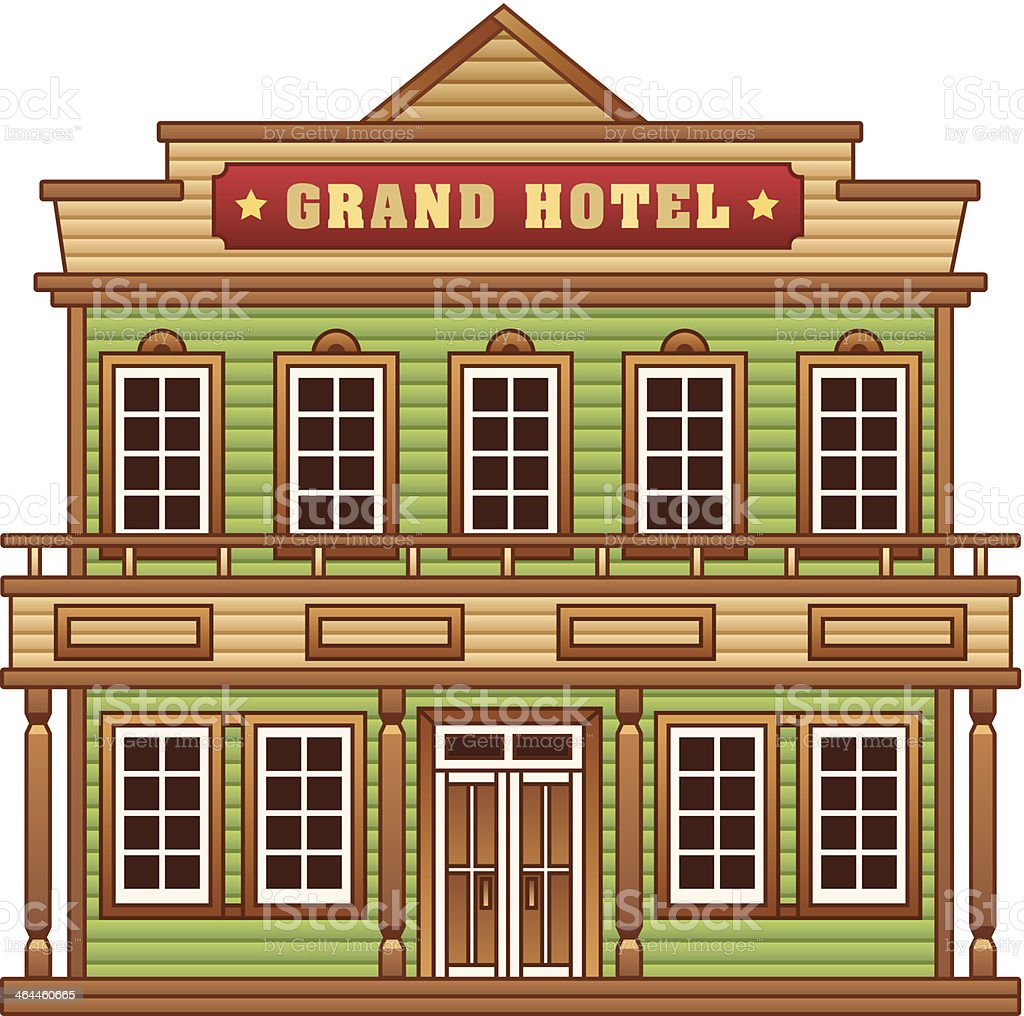 Wild West grand hotel royalty-free stock vector art