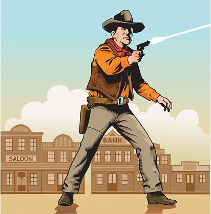 Wild West Gunslinger in Shootout