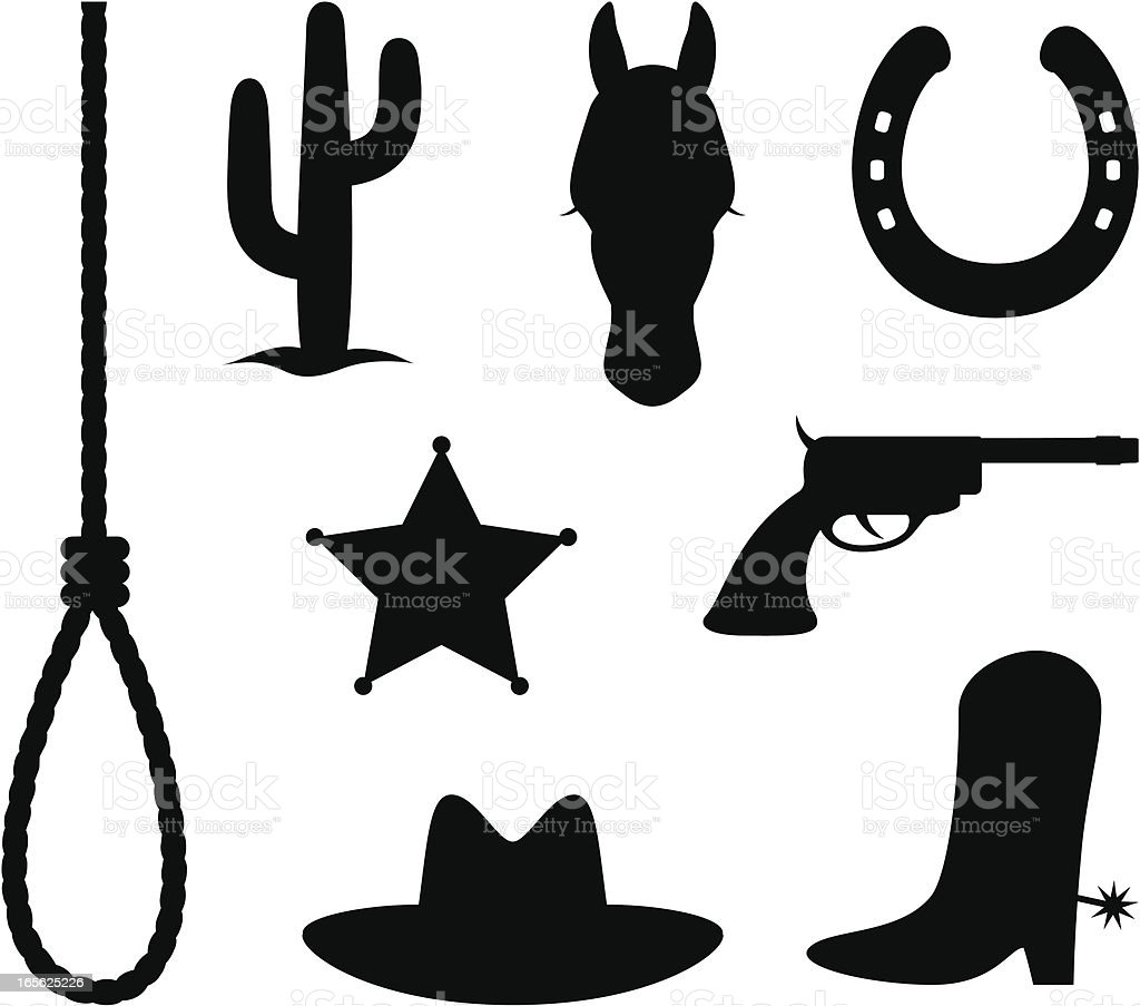 Wild west items royalty-free wild west items stock vector art & more images of animal