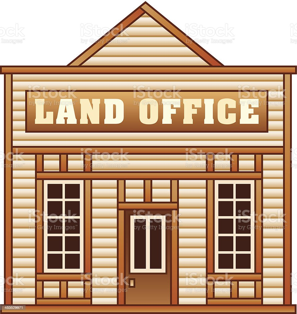 Wild West Land office royalty-free stock vector art