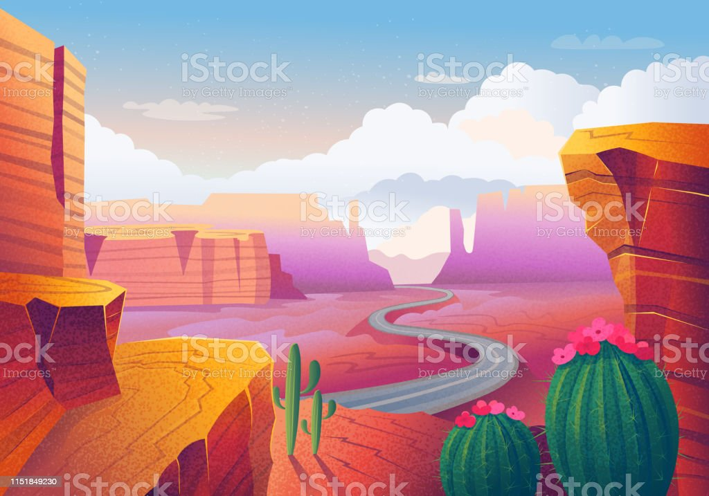 Wild West Landscape - Royalty-free Adventure stock vector