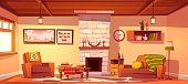 istock Wild west living room empty western style interior 1214937094