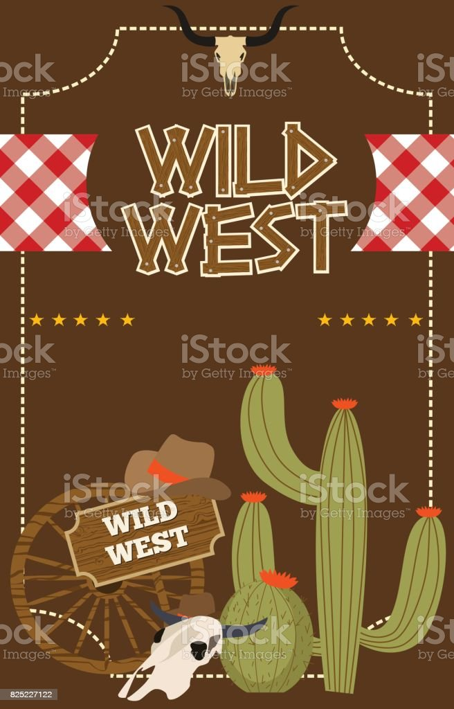 Wild West Poster For Party Invitation stock vector art 825227122 ...