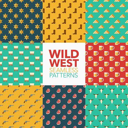 Wild West Seamless Pattern Set