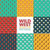 Wild West Seamless Pattern Set