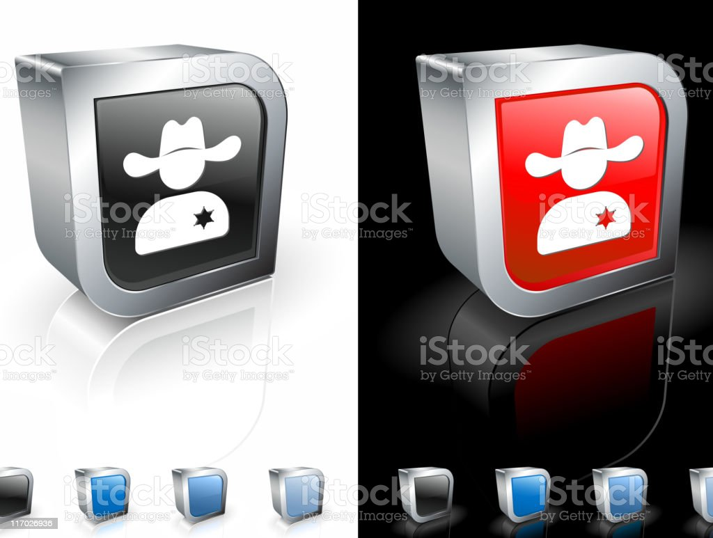 wild west sheriff 3D royalty free vector art royalty-free stock vector art