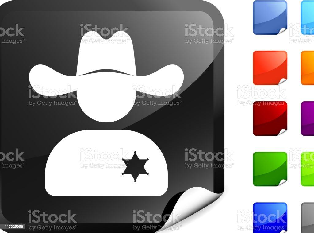 wild west sheriff internet royalty free vector art royalty-free stock vector art