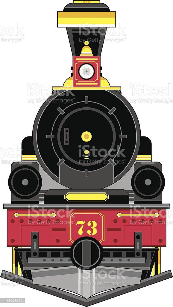 Wild West Style Train Engine vector art illustration