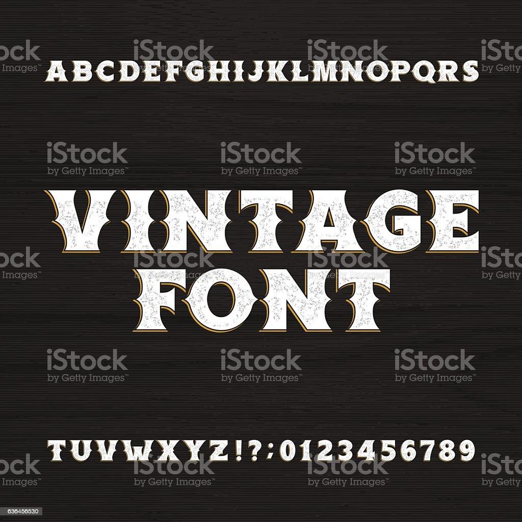 Wild west typeface. Retro distressed alphabet font. ilustración de wild west typeface retro distressed alphabet font y más vectores libres de derechos de arte cultura y espectáculos libre de derechos
