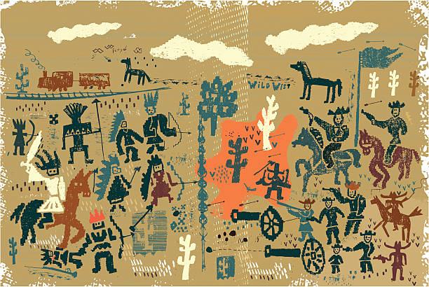 Velho oeste - ilustração de arte em vetor
