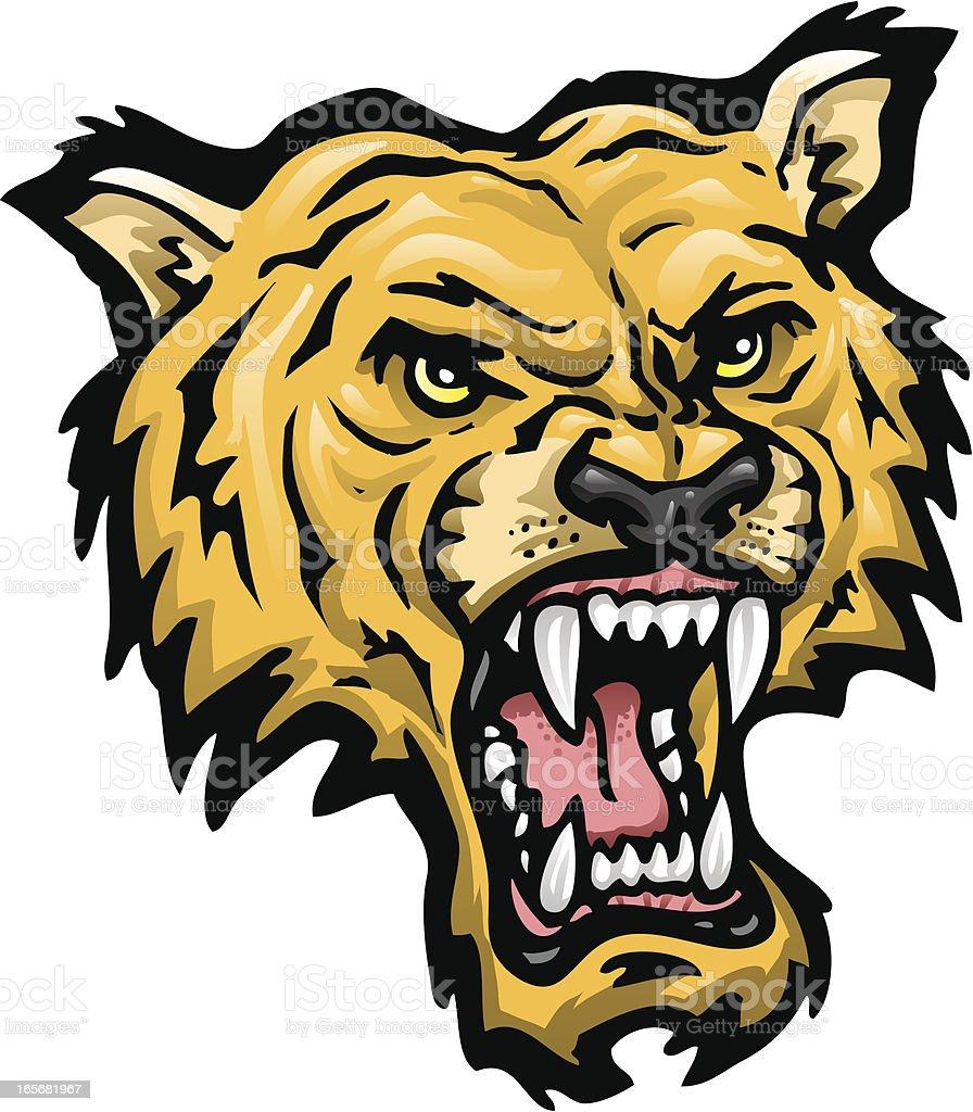 Wildcat Head royalty-free wildcat head stock vector art & more images of anger