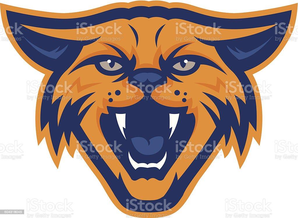 Wildcat Head royalty-free wildcat head stock illustration - download image now