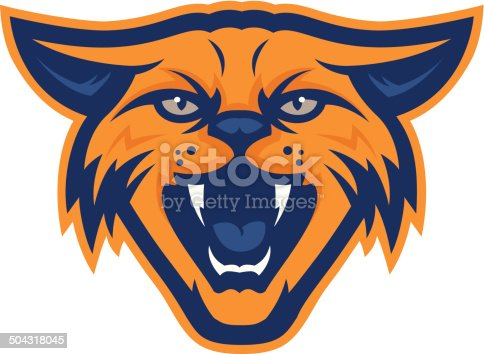 This wildcat is ready to pounce! Perfect for your school mascot or sports team logo. Customize with your colors or text.