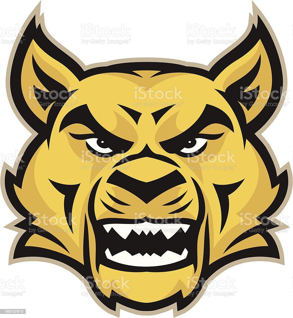Wildcat Mascot Head vector art illustration
