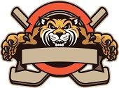 Wildcat Mascot Hockey Design