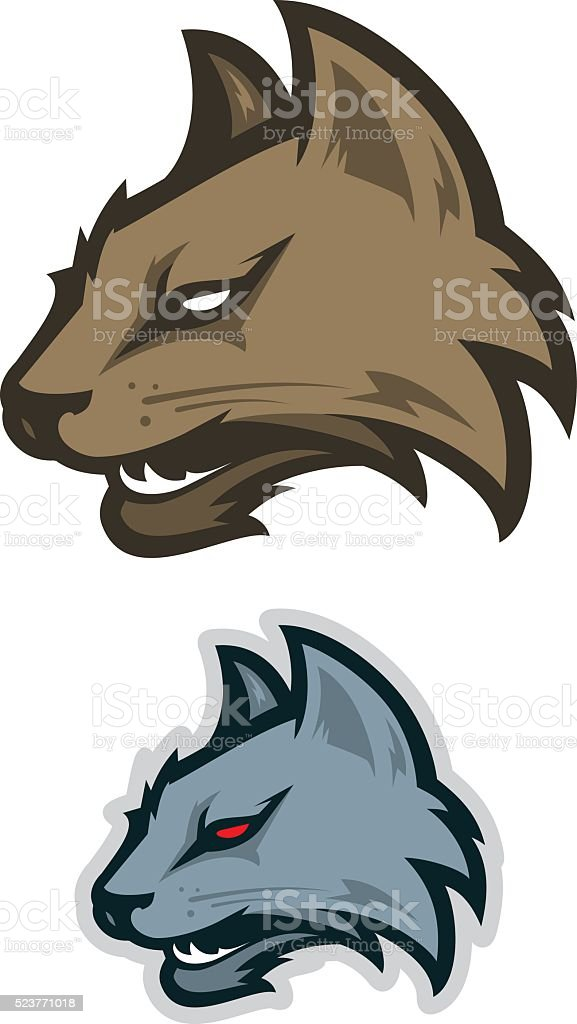 Wildcat sport logotype vector art illustration
