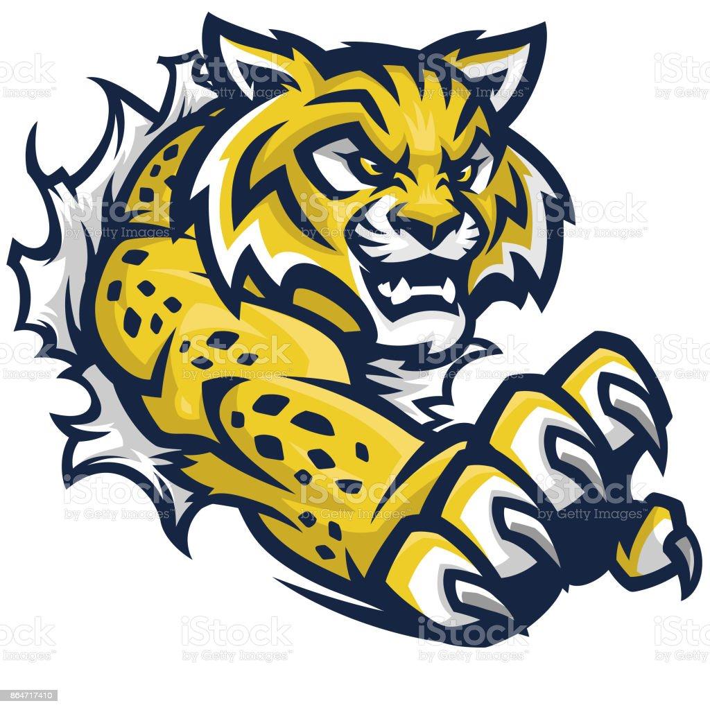 royalty free wildcat mascot clip art vector images illustrations rh istockphoto com Wildcat Mascot Designs wildcat mascot clipart free