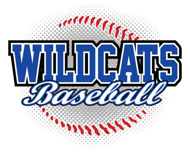 illustrations, cliparts, dessins animés et icônes de conception de baseball de wildcats - sports lycée