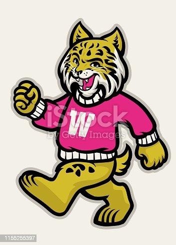 vector of wildcats school athletic mascot