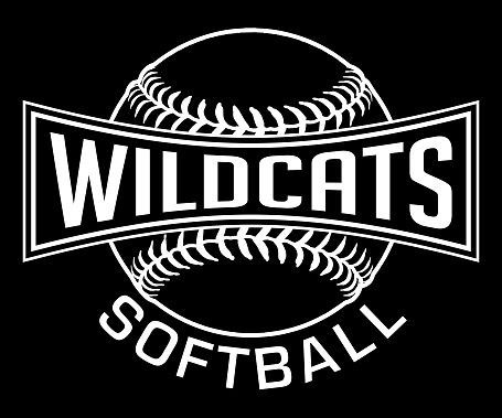 Wildcats Softball Graphic-One Color-White