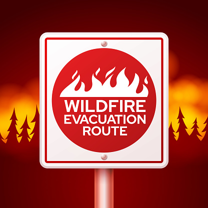 Wildfire Evacuation Route Fire Danger