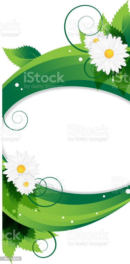 Wildflowers background royalty-free stock vector art
