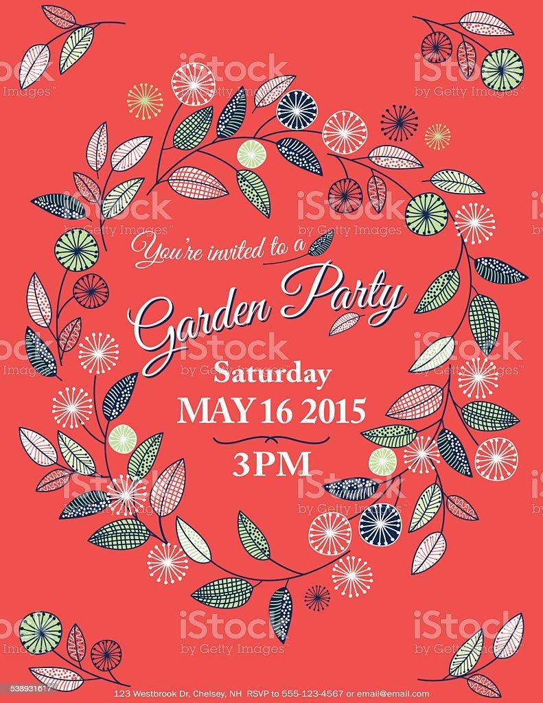 Beautiful Garden Party Invitation Template Ideas - Resume Ideas ...