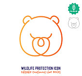 istock Wildlife Protection Continuous Line Editable Stroke Line 1251104566