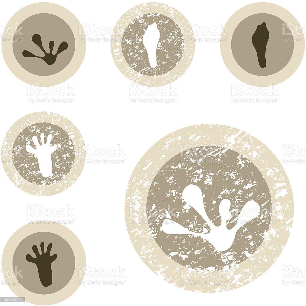 Wildlife Stamp Set - 07 of 12 royalty-free stock vector art