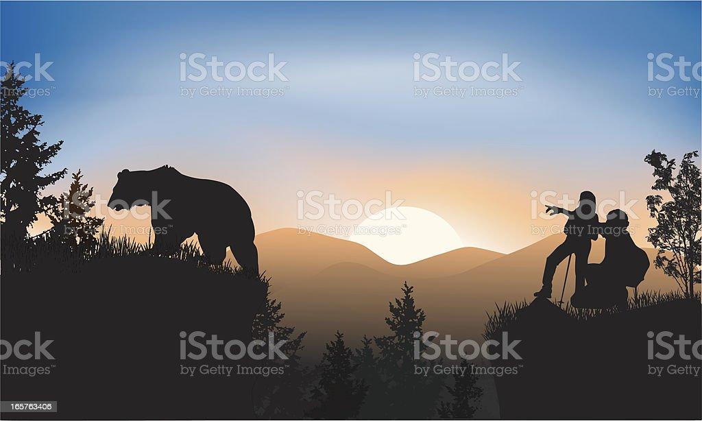 Wildlife watching royalty-free stock vector art